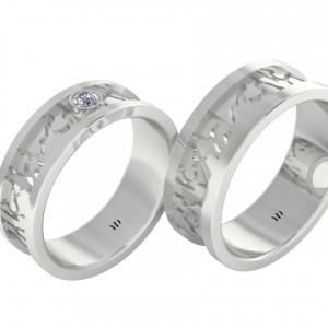 Обручальные кольца с камнями: бриллиант или сапфир