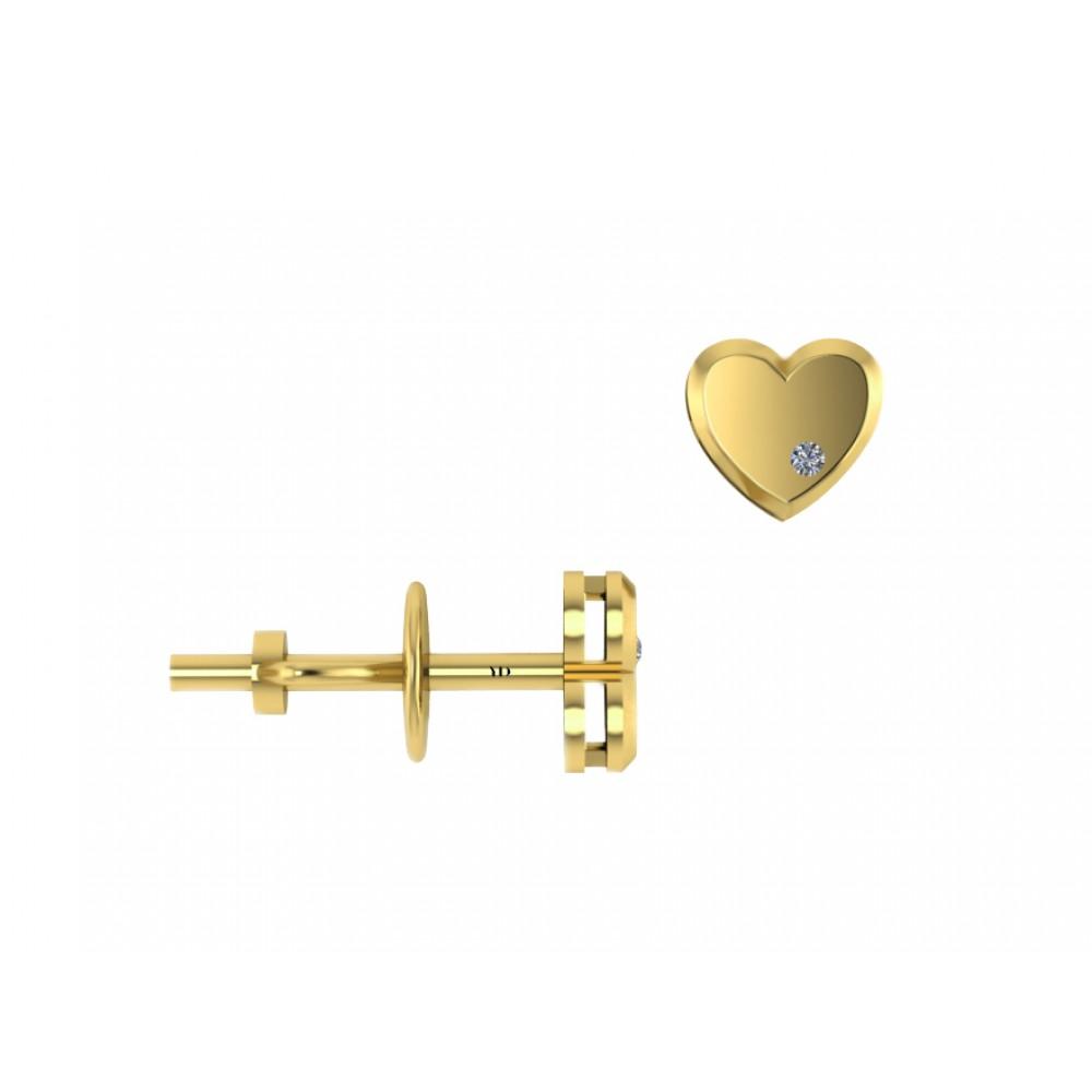"Золотые серьги ""Little Hearts"""