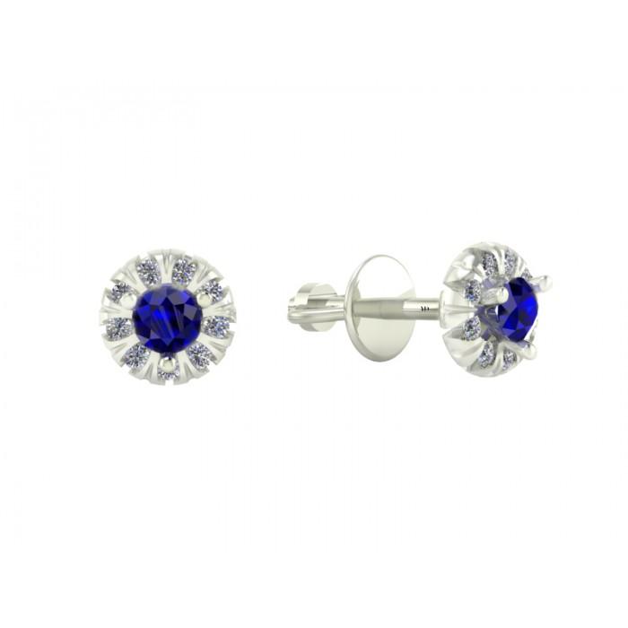 """Сережки з сапфірами та діамантами """"Blue Stones"""""""