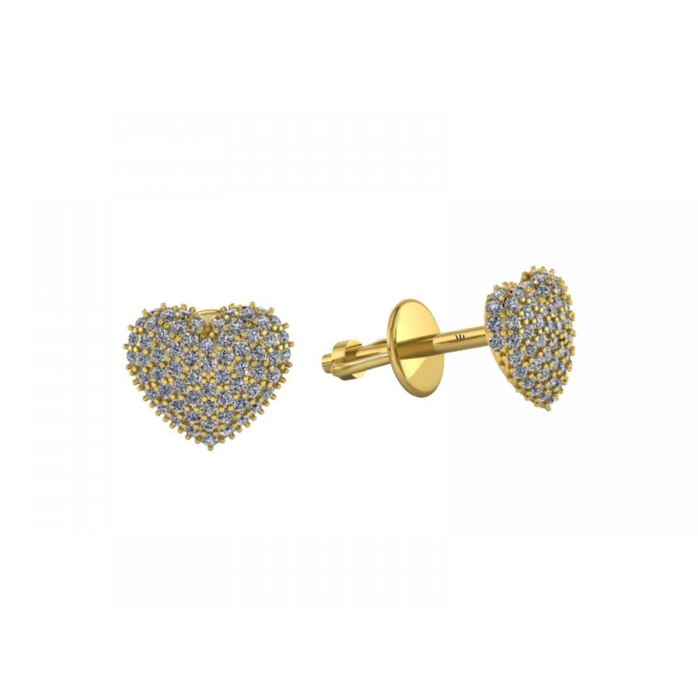 "Серьги-пусеты с бриллиантами ""Sweet Heart"""