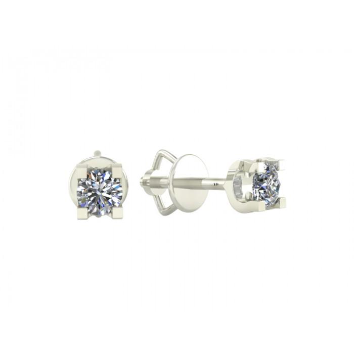 """Пусеты в форме гвоздиков с бриллиантами """"Christine"""""""