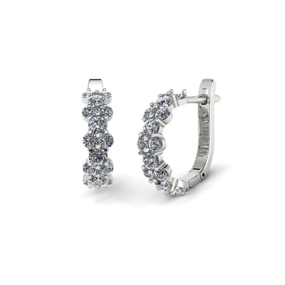 "Серьги с бриллиантами в форме дорожки ""Melody"""