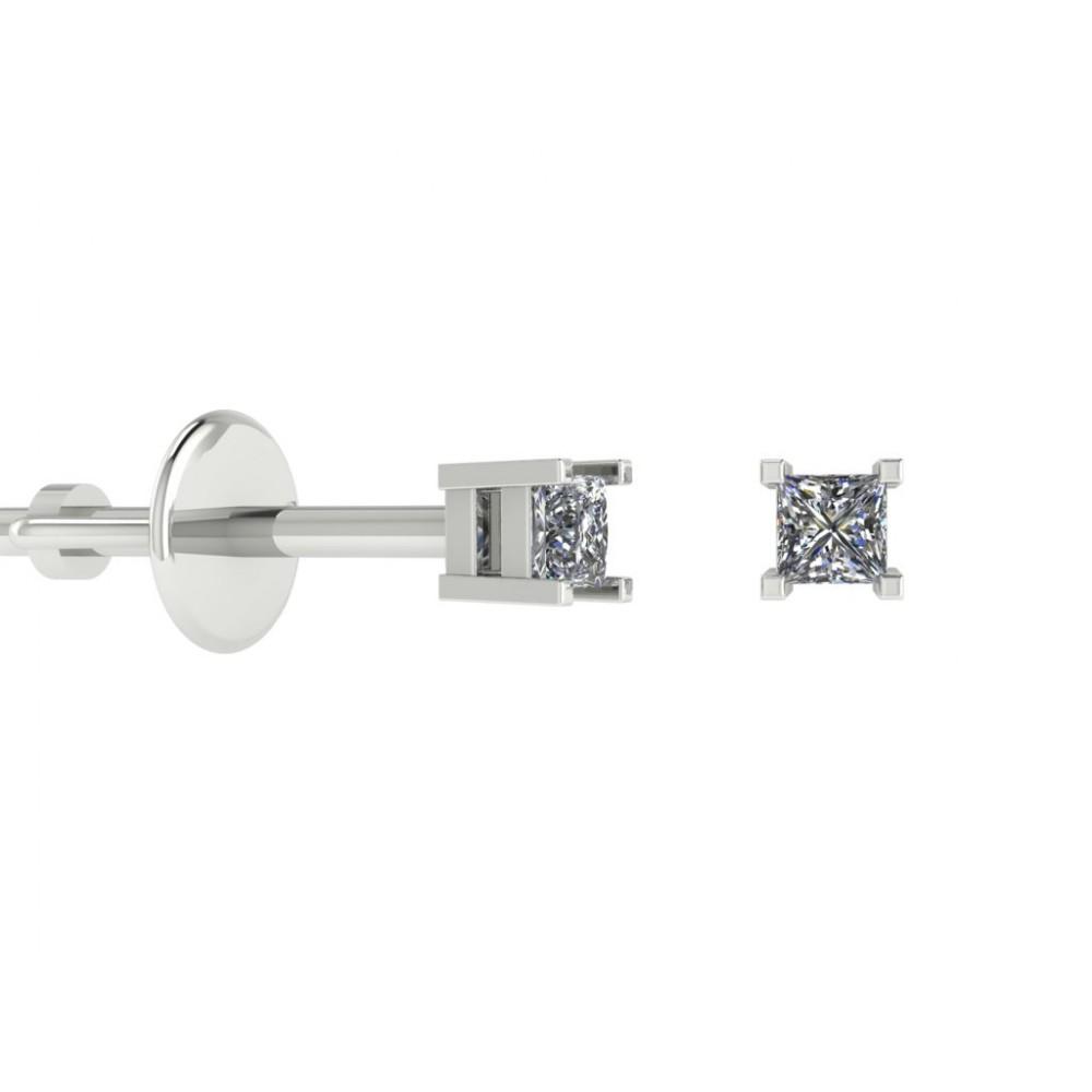"""Пусеты из белого золота с бриллиантами """"Anastasia"""""""