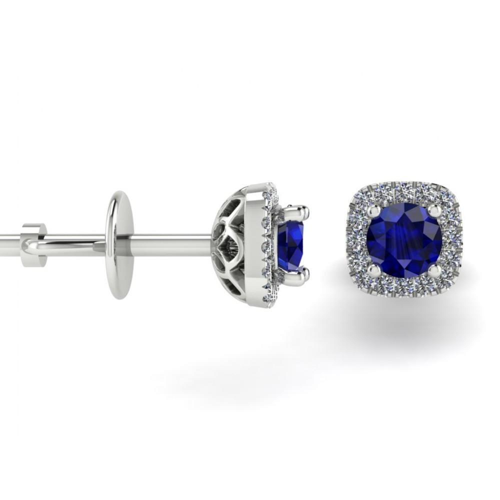 """Серьги-трансформеры с центральным сапфиром и бриллиантами """"Olivia"""""""