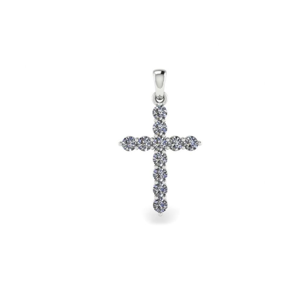 "Крестик с бриллиантами ""0.44 carat"""