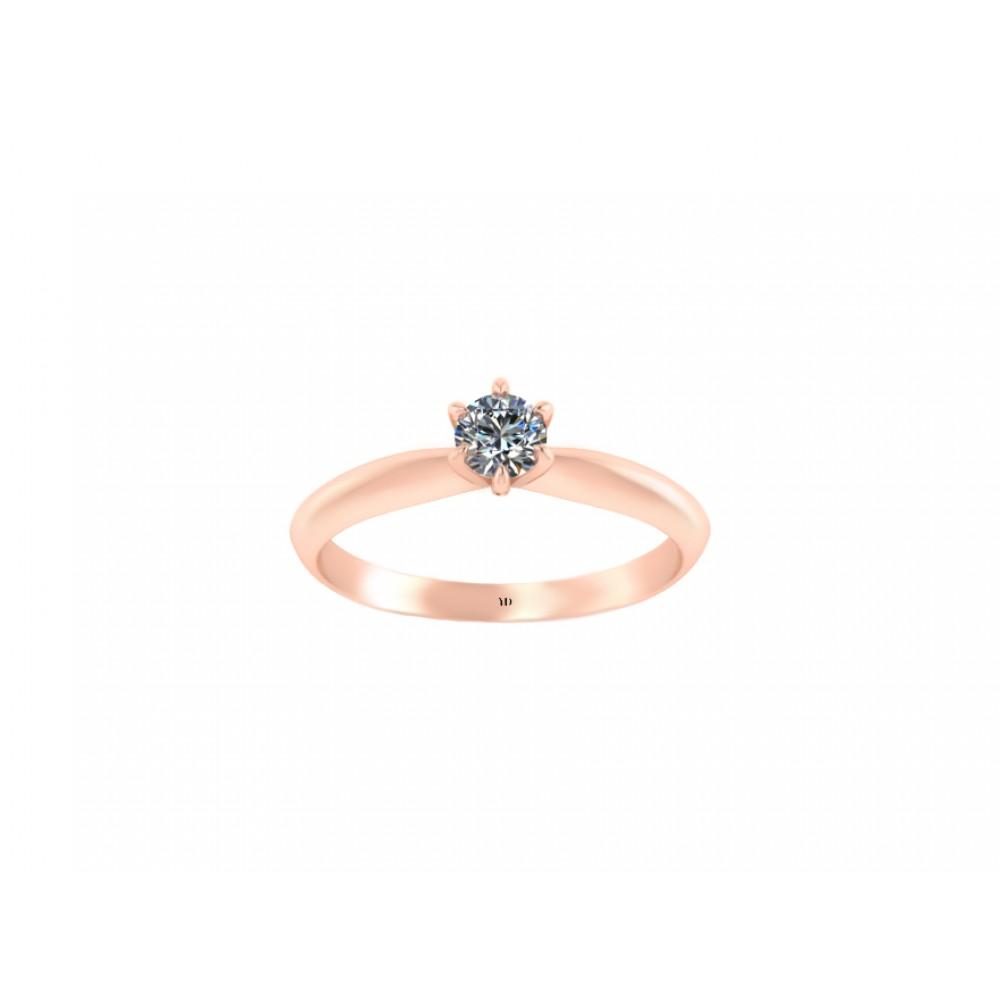 Кольцо для помолвки с бриллиантом RYD001