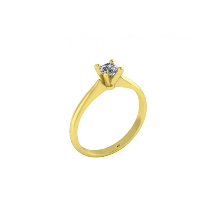Помолвочное кольцо c бриллиантом RYD002