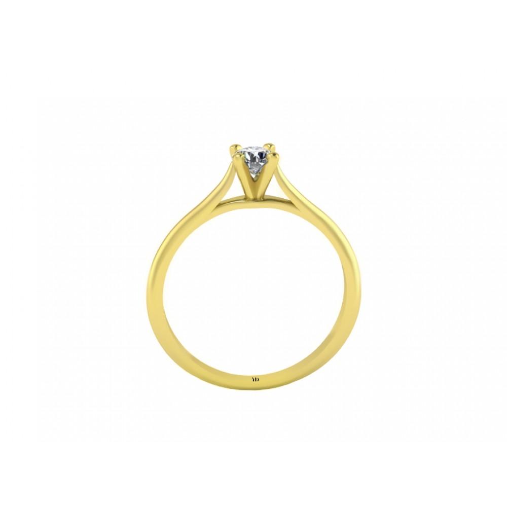 Кольцо для помолвки из золота с бриллиантом RYD003
