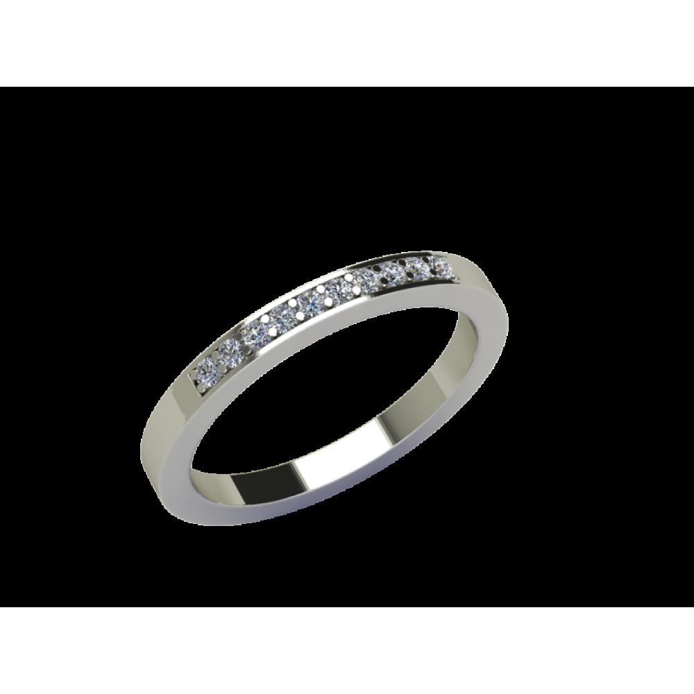 Кольцо-дорожка с россыпью бриллиантов RYD006
