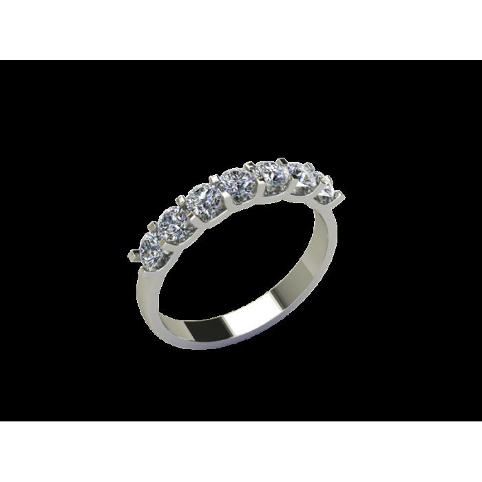Кольцо-дорожка из белого золота с россыпью бриллиантов RYD008