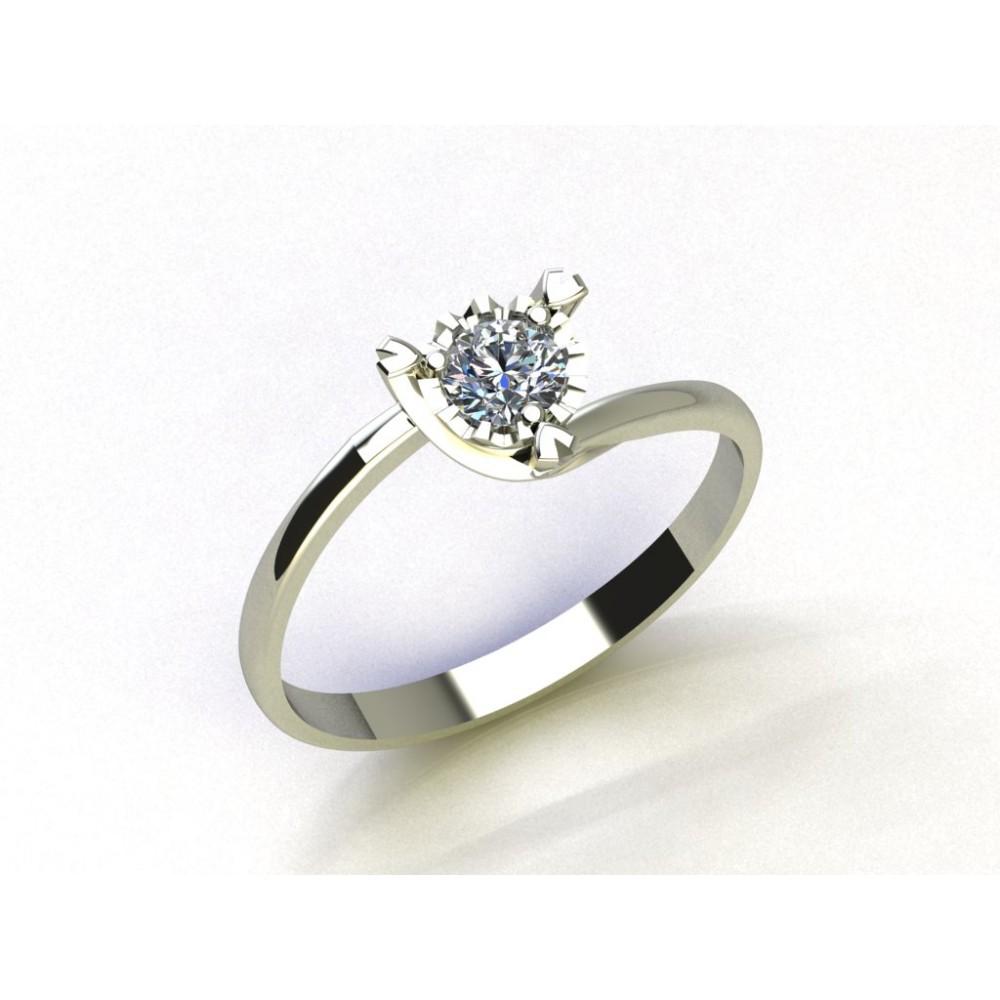"""Кольцо для помолвки из золота с бриллиантом """"The Rose of Love"""""""