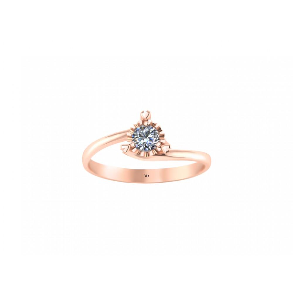"""Кольцо для помолвки из золота с бриллиантом """"The Rose of Love"""" RYD010"""