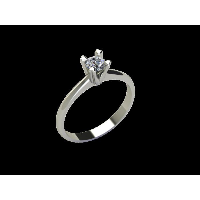 """Кольцо для помолвки из золота с бриллиантом в сердечках """"Hearts"""""""