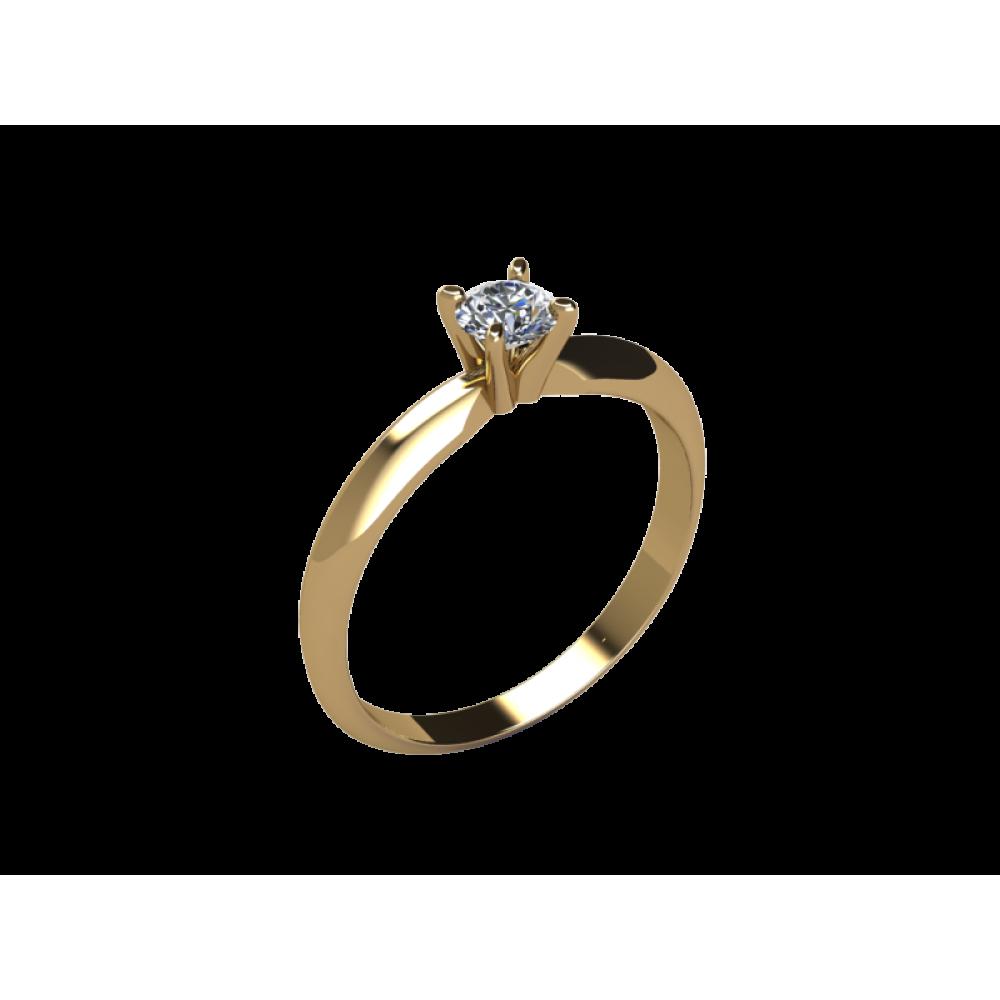 Кольцо для помолвки из золота с бриллиантом RYD013
