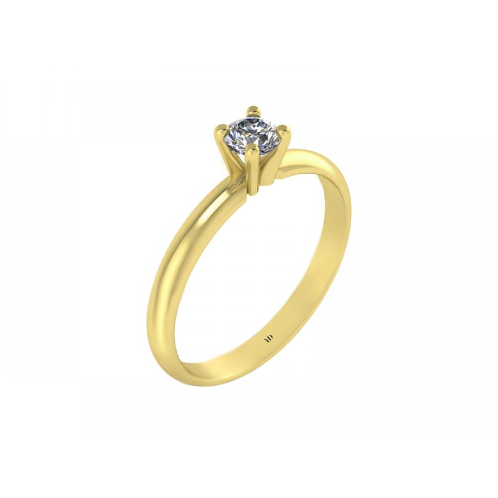 Кольцо для помолвки из золота с бриллиантом RYD015