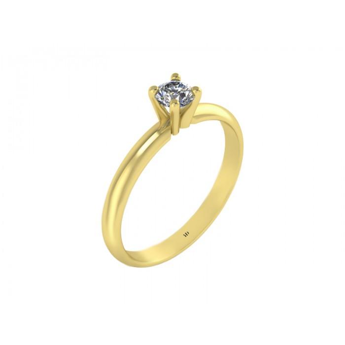 Каблучка для заручин із золота з діамантом RYD015