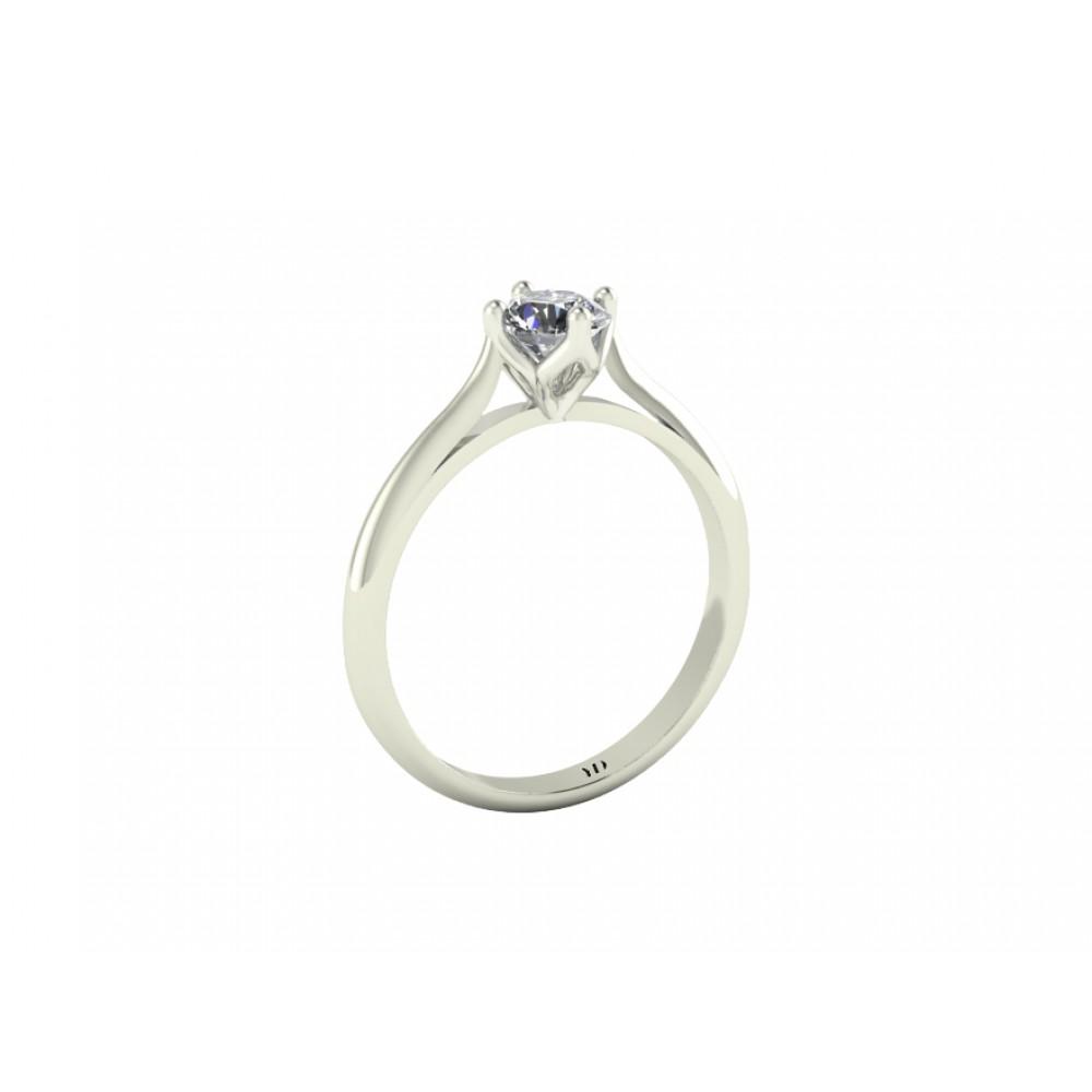 """Кольцо для помолвки с бриллиантом """"East-West"""""""