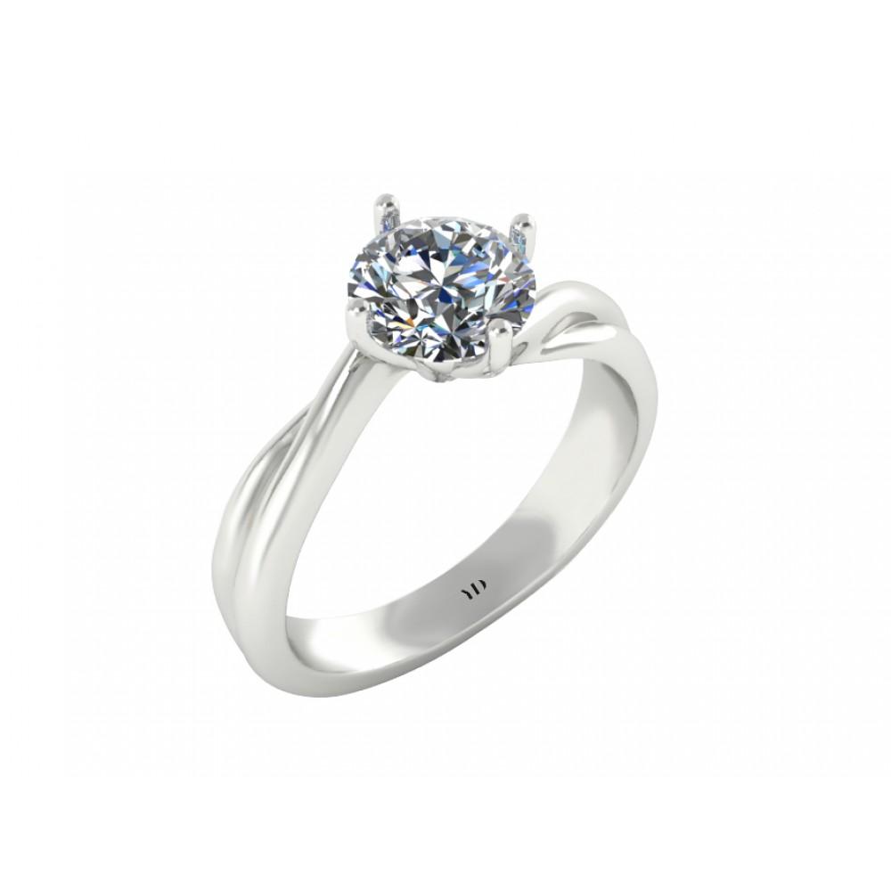"""Помолвочное кольцо с бриллиантом """"Branches of Love"""""""
