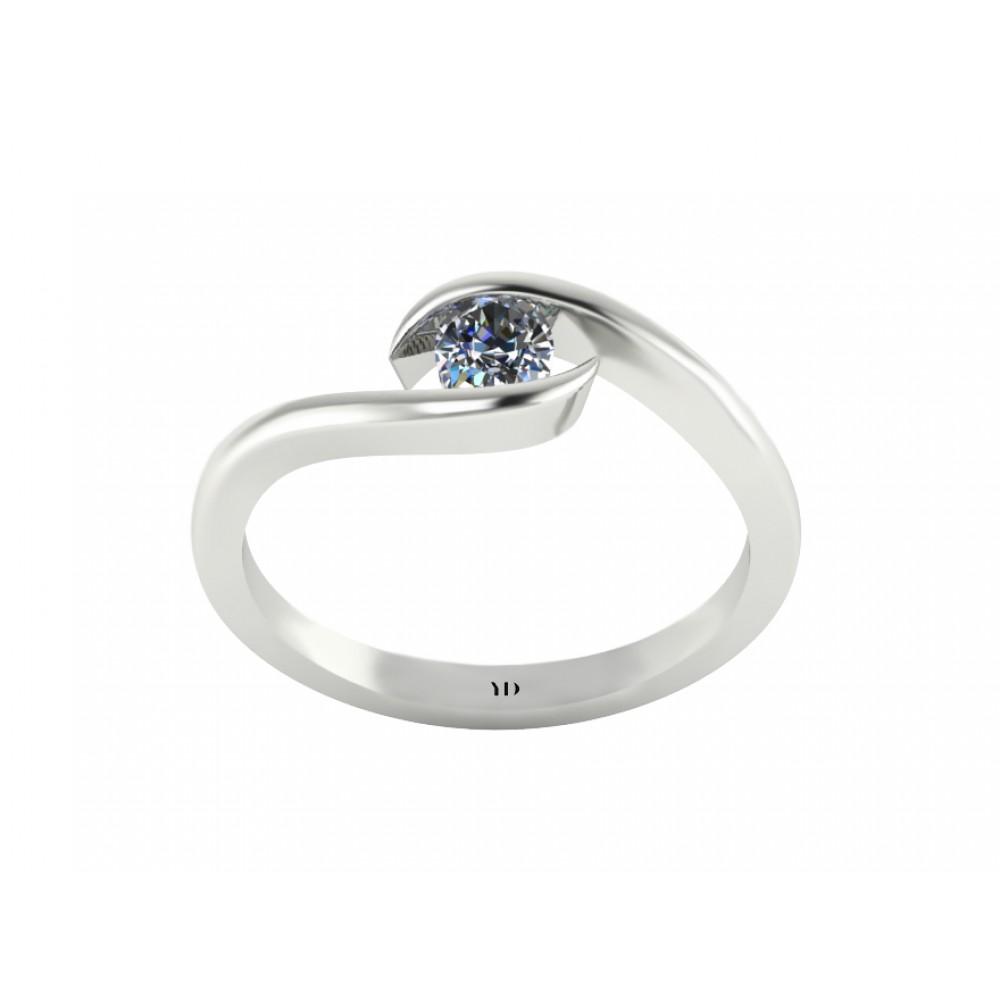 """Кольцо для помолвки с бриллиантом """"Lake"""""""