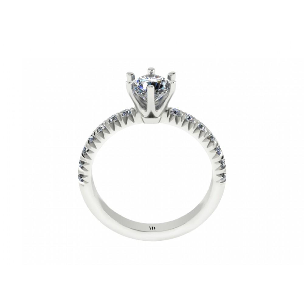 """Кольцо для помолвки с бриллиантом """"Empress"""""""