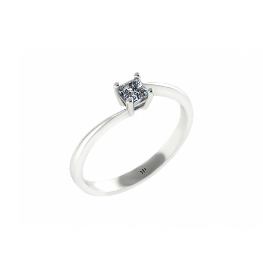 """Помолвочное кольцо с бриллиантом """"Princess"""""""