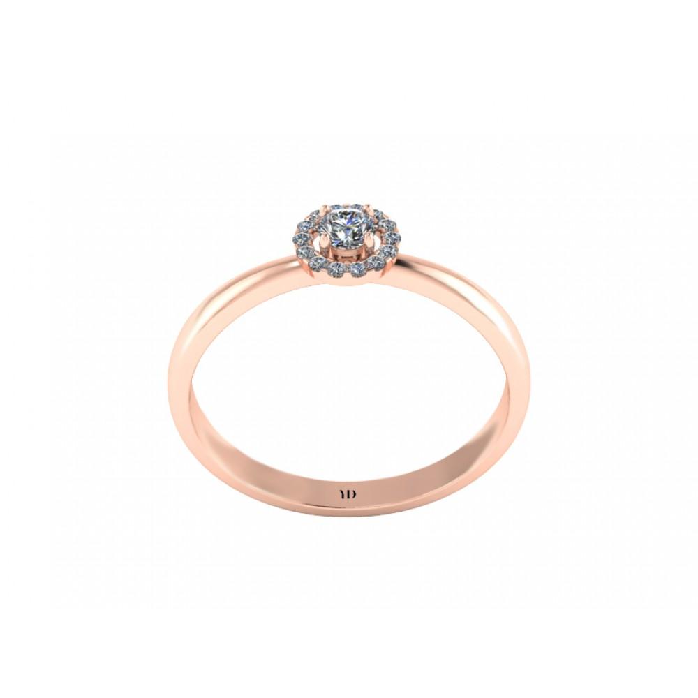"""Помолвочное кольцо с бриллиантами """"Raspberry"""""""