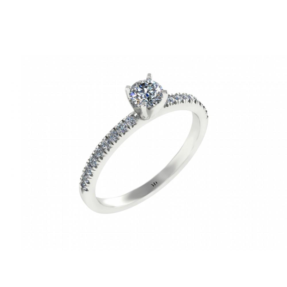 "Помолвочное кольцо с бриллиантами ""Flower"""