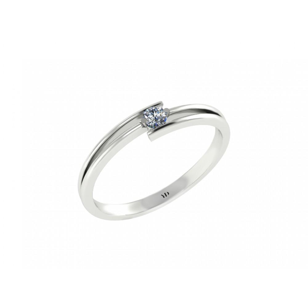 "Кольцо для помолвки с бриллиантом ""Asymmetry"""