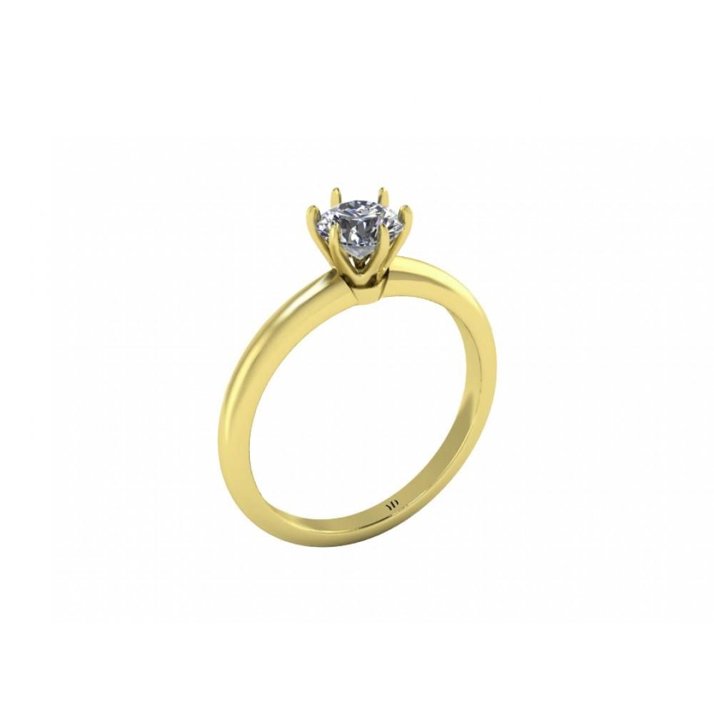 """Кольцо для помолвки с бриллиантом """"Crown"""""""