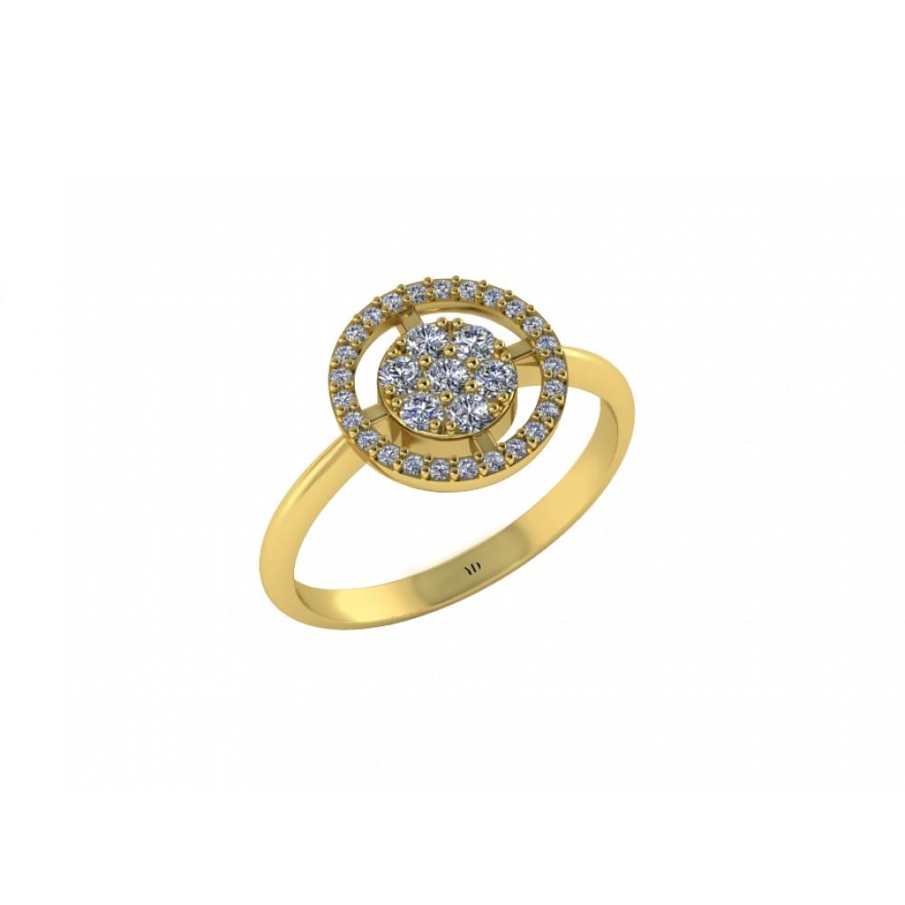 "Кольцо для помолвки с бриллиантами ""Cartly"""