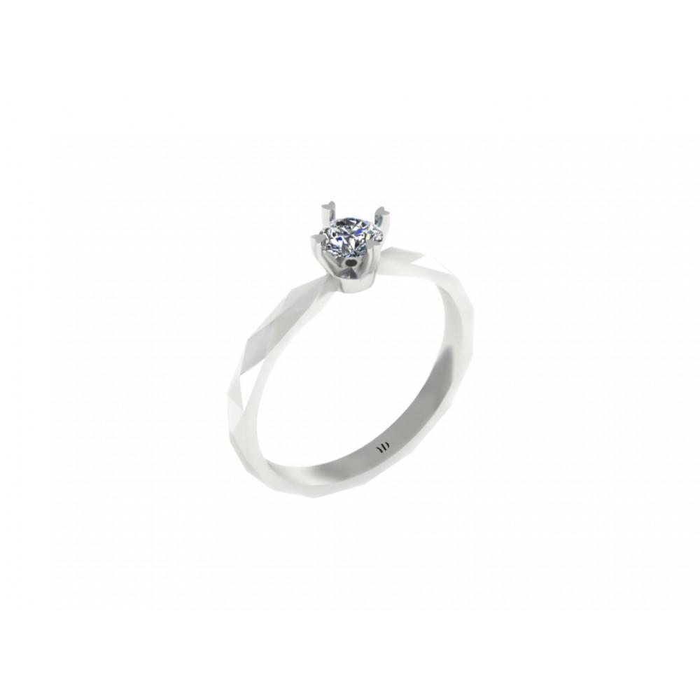 """Кольцо для помолвки с бриллиантом """"Facets"""""""