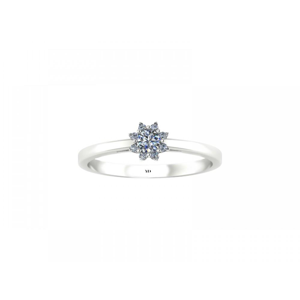 """Кольцо для помолвки с бриллиантами """"Strawberry"""""""