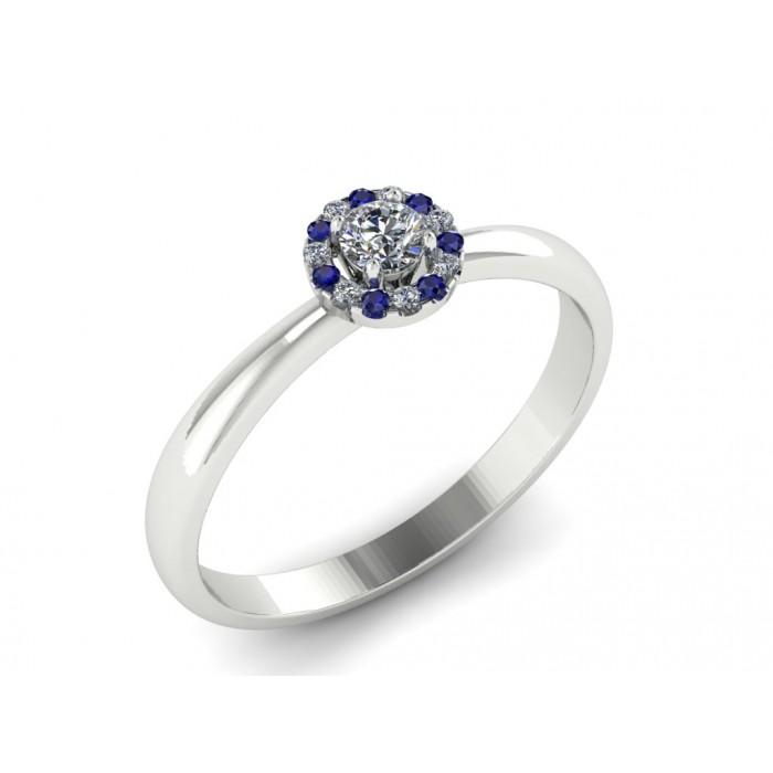 """Кольцо для помолвки с бриллиантами и сапфирами """"Helena"""""""