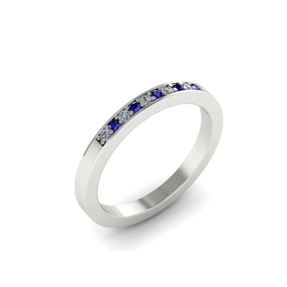 "Помолвочное кольцо с сапфирами и бриллиантами ""White and Blue"""