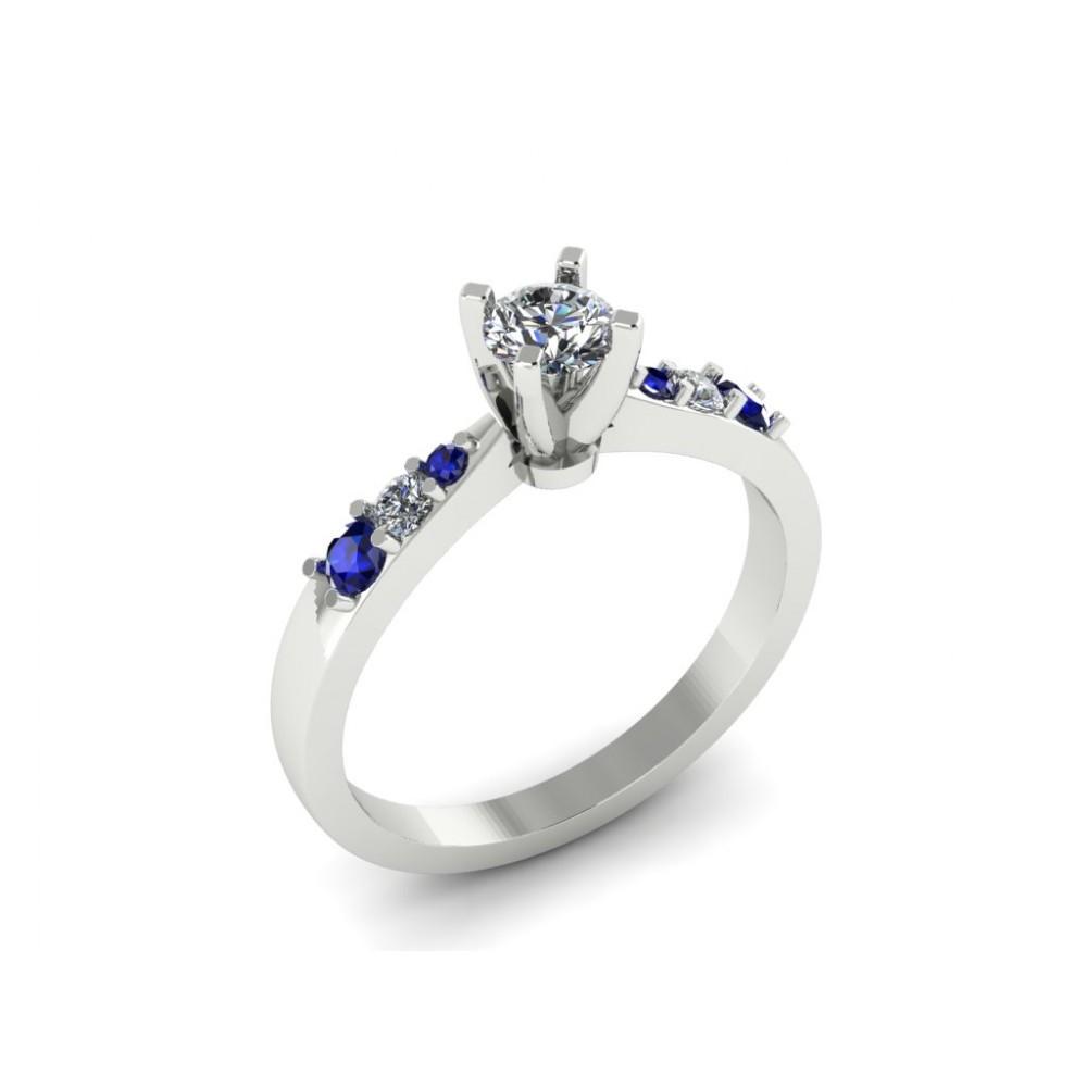 """Помолвочное кольцо с бриллиантами и сапфирами """"Ada"""""""