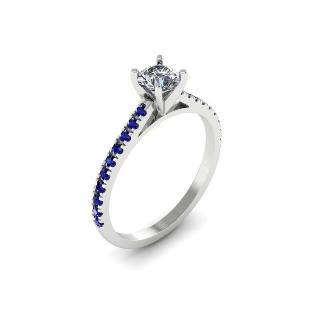 """Кольцо для помолвки с бриллиантом и сапфирами """"Goddess"""""""