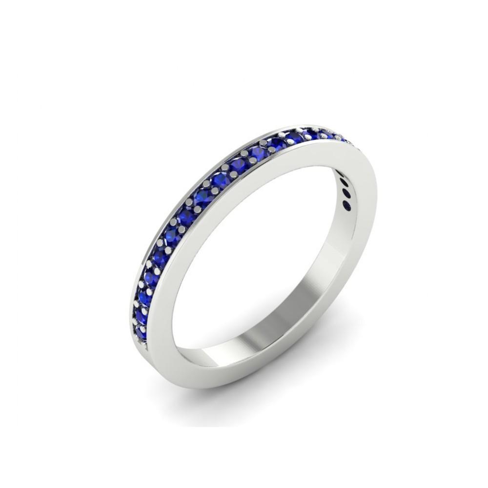 """Помолвочное кольцо с сапфирами из белого золота """"Edith"""""""