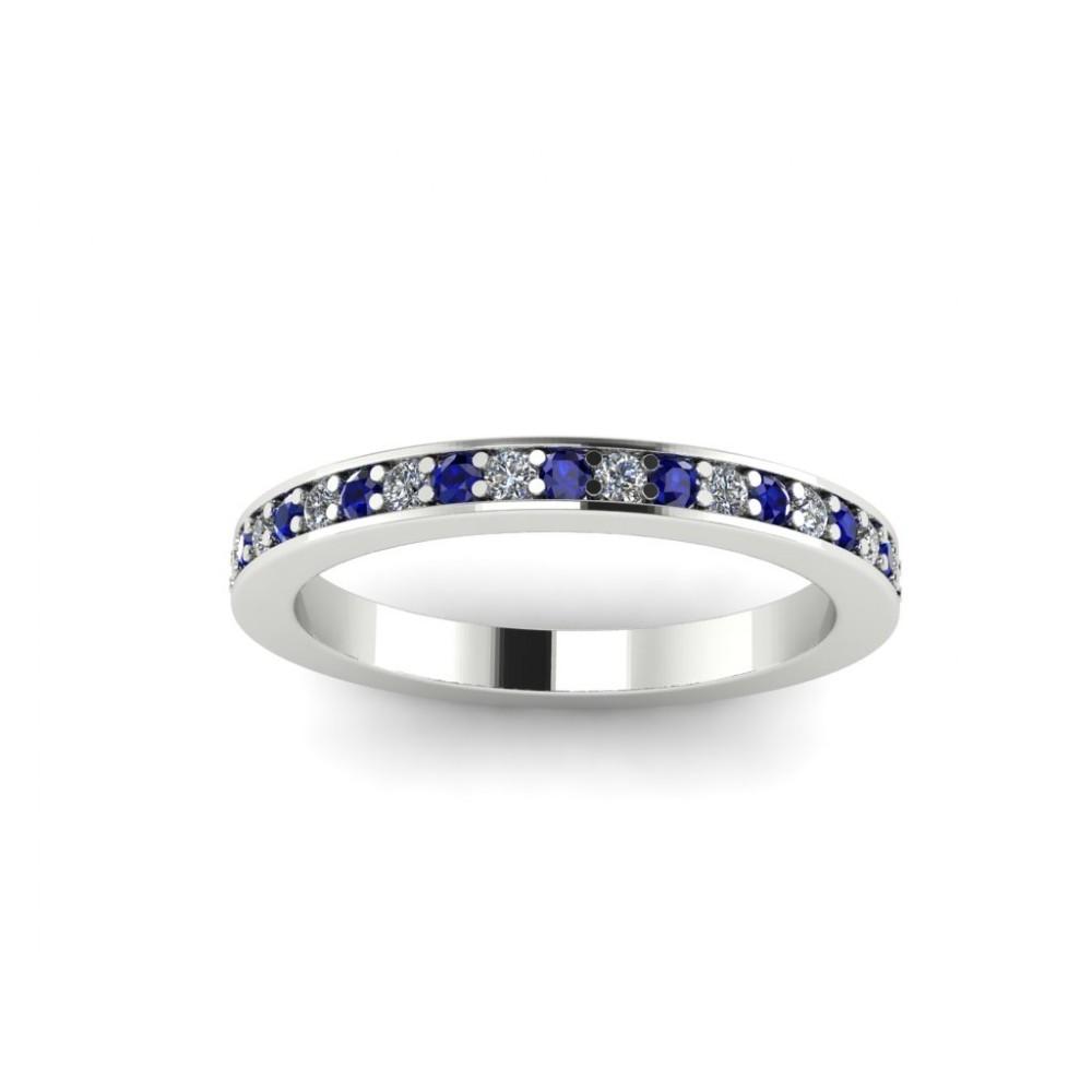 "Кольцо для помолвки с бриллиантами и сапфирами ""Victoria"""