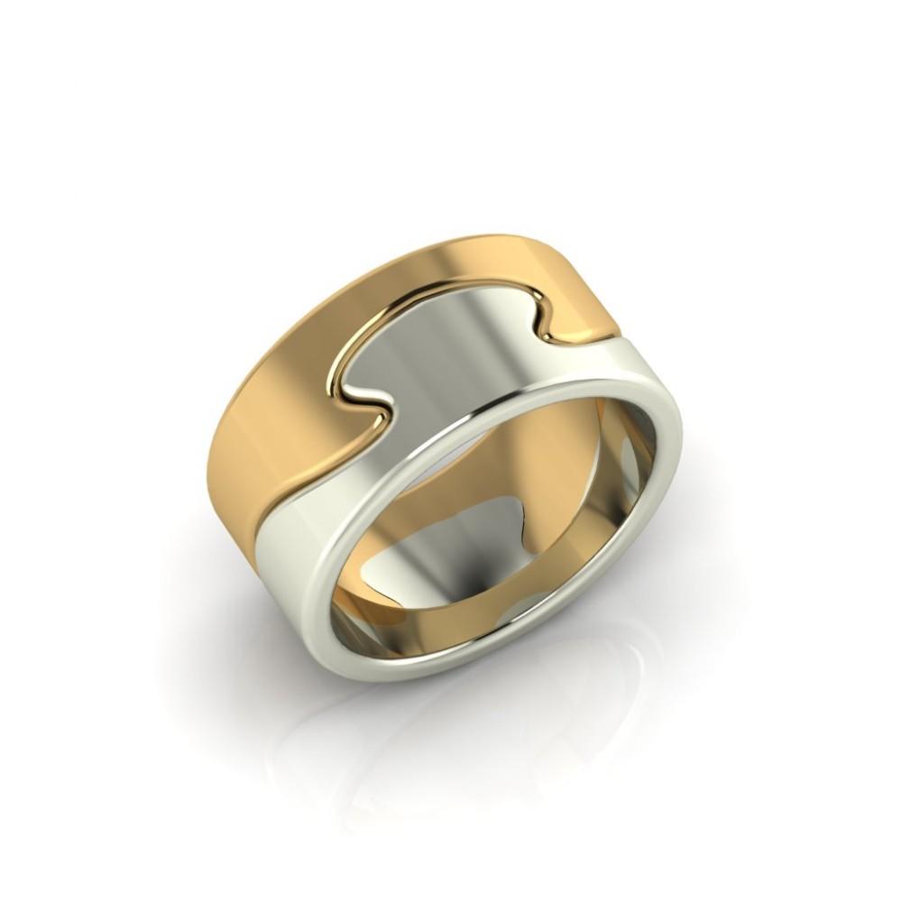 """Обручальное кольцо из комбинированного золота """"Magic"""""""
