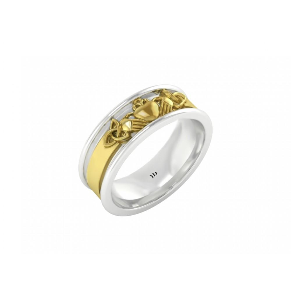 """Обручальное кольцо из белого и желтого золота """"Eva"""""""