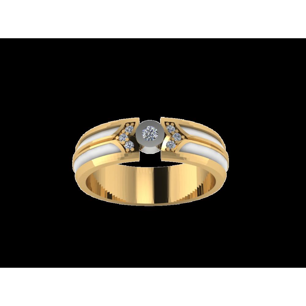 """Обручальное кольцо из желтого золота с бриллиантами """"Eliza"""""""