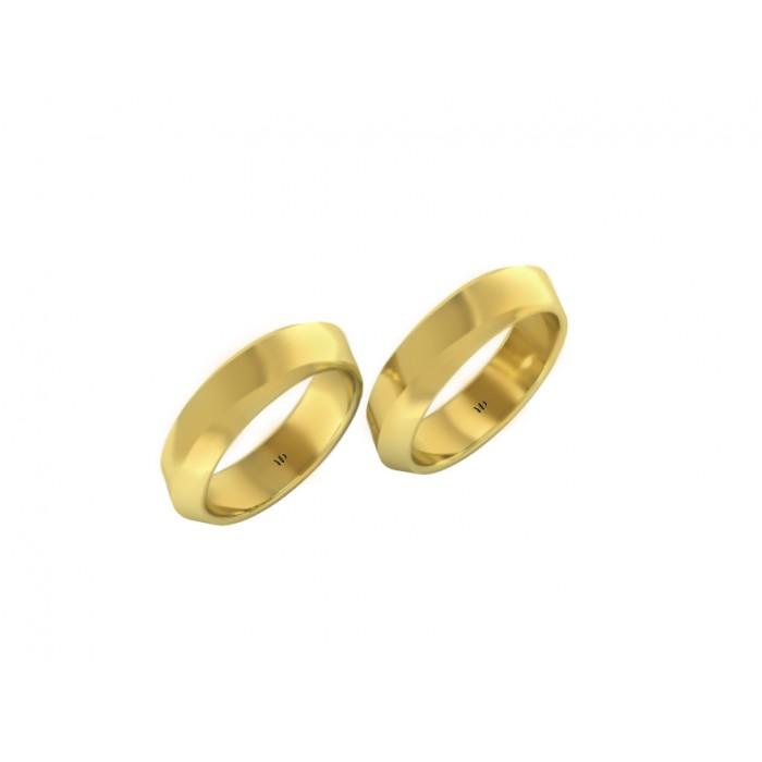 """Пара обручальных колец из желтого золота """"Amber"""""""