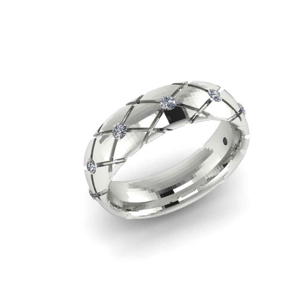 """Обручальное кольцо из белого золота с бриллиантами """"Darsy"""""""