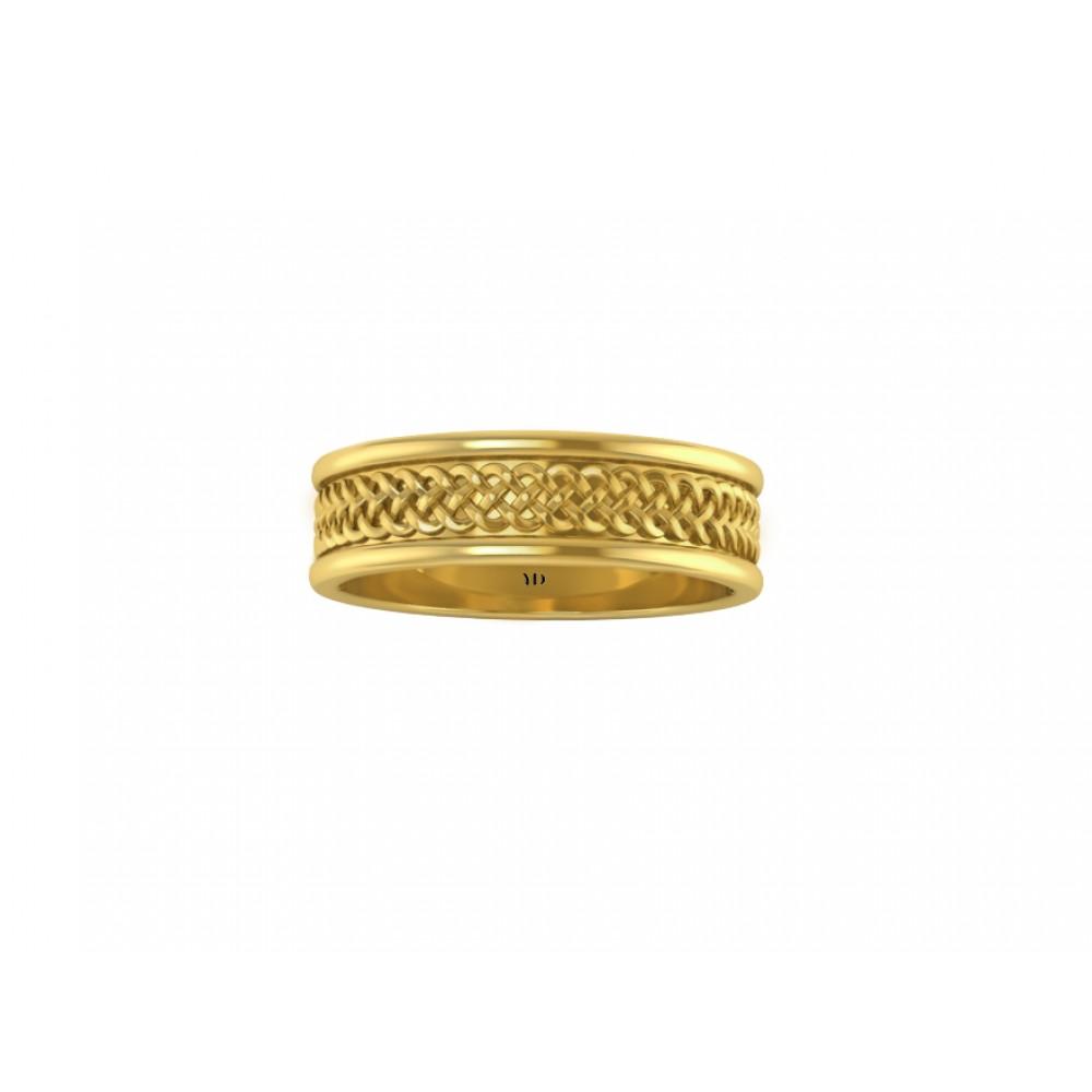 """Обручальное кольцо из красного золота """"Millenium"""""""