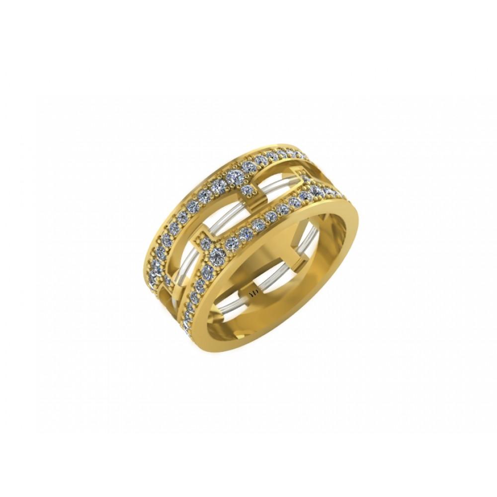 """Обручальное кольцо из желтого золота с бриллиантами """"Stars"""""""