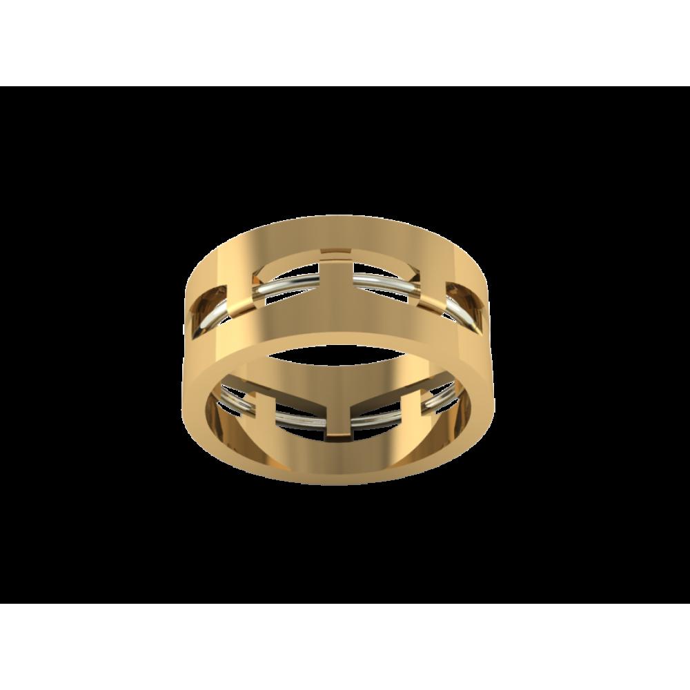 """Желтое обручальное кольцо из золота """"Sunny Bird"""""""