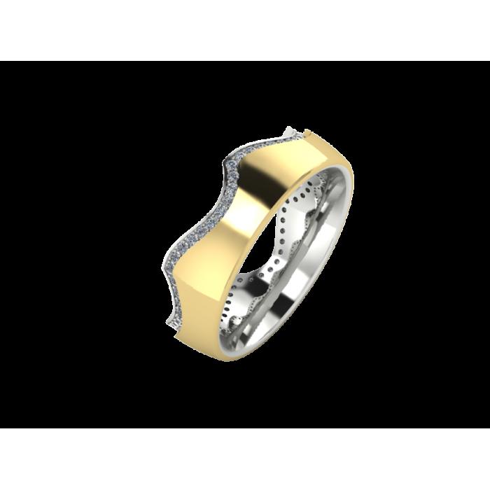 """Обручальное кольцо с россыпью бриллиантов """"Diamond Gate"""""""
