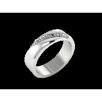 """Обручальное кольцо из белого золота с бриллиантами """"Princess"""""""