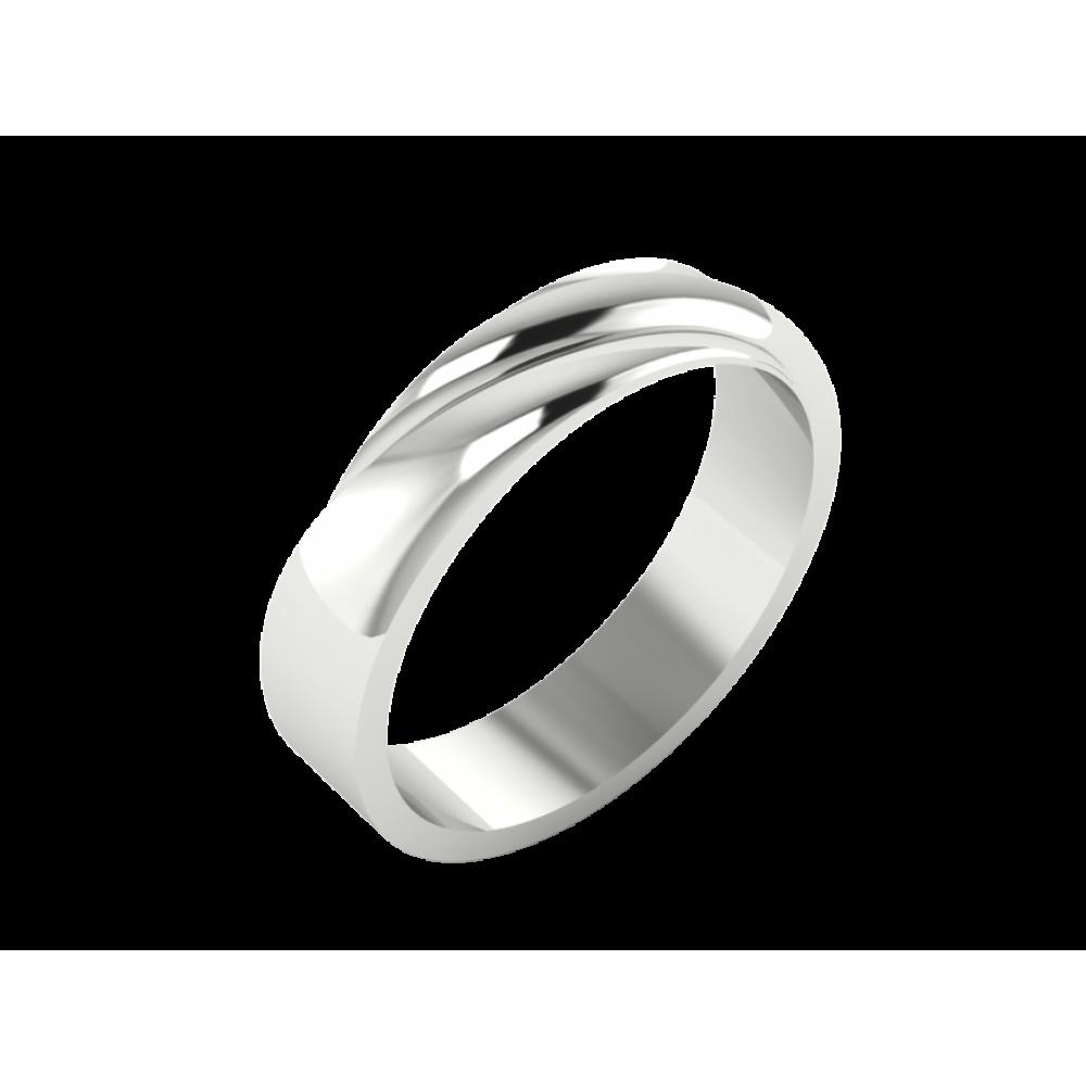 """Обручальное кольцо из белого золота """"Augusta"""""""